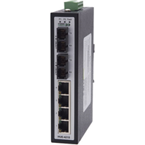 Non-Managed Industrial Slimline Switch with Dual Fibre Ports (HUE-421SE)