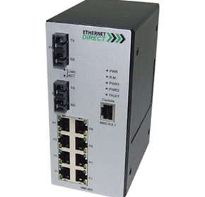 SNMP Managed Industrial Switch, Dual Singlemode Fibre Ports (HME-823)