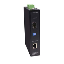 Non-Managed Industrial 10/100/1000Mbps Ethernet to SFP Converter (RUG-118)