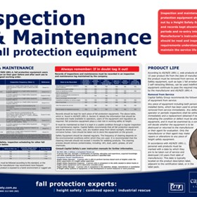 Updated Maintenance Services/Fall Safety & Protection Poster