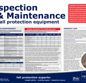 Capital Safety Australia Introduces Updated Inspection & Maintenance Fall Protection Poster.