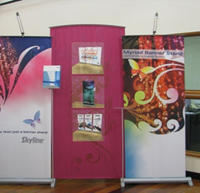 Myriad Banner Stand Display
