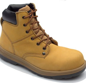 Wheat Nubuck Leather Lace Ankle Safety Boot - NB 3008