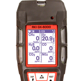 Handheld One to Six Gas Personal Detector | GX-6000