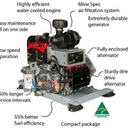 DC Diesel Generator - PowerMaker Variable Load Husky 3.0KW 24/48V