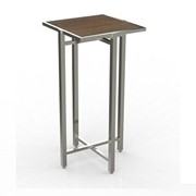 Cocktail Table | Single Cross Cube Lock Top