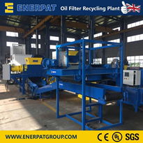 Automatic Oil Filter Shredder Recycling Line UK brand