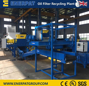 Automatic Oil Filter Shredder Recycling Line | MSB-11