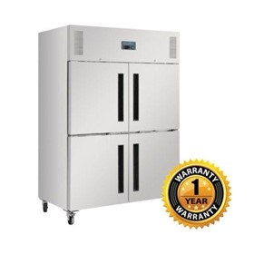 4 x 1/2 Solid Doors Upright Refrigerator– DL709-A