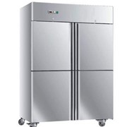 Commercial Freezers 4 Split Stainless Steel Doors 1220L – GN1.2BT4