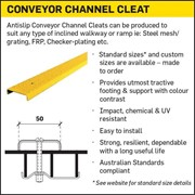 Antislip Conveyor Channel Cleats