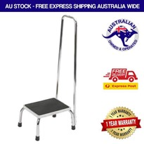 Step Stool with Tall Safety Handrails