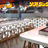 YO Sushi's new look in Sydney Airport