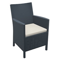 California Tub Armchair | Indoor/Outdoor Resin Rattan