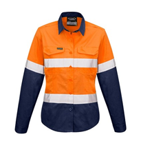Hi-Vis WorkWear | Womens Rugged Cooling Taped Hi Vis Spliced Shirt