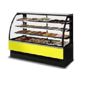 Curved Glass Cake Display Case - EVO 150 Patisserie