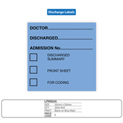 Medical Discharge Identification Labels