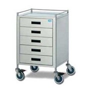 Anaesthesia Trolley | FD18-4060 (Stainless Steel) 5 Drawer