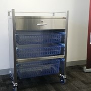 IntraSpace - One Section Stainless Steel Trolley with Drawer