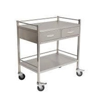 MEDICAL GRADE TROLLEY CLEARANCE STOCK! DOUBLE DRAWERS