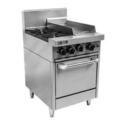 RCR6-2-3G-NG Trueheat RC Series 2 Burner with 300mm griddle Oven Range