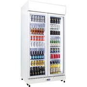 Schmick |  2 Glass Door Bar Fridge Commercial Upright | HUS-C800X