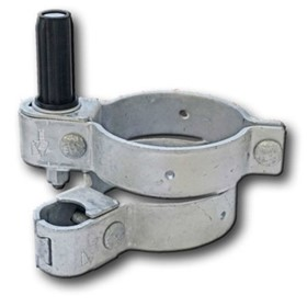 Bolt-on Adjustable Round Post Hinge Set