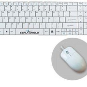 SEAL KEYBOARD SV099K IP68 USB WHI PLUS MOUSE
