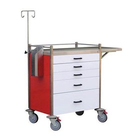 Emergency Crash Cart - Red