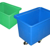 150 Litre Industrial Plastic Tub with Stainless Steel Castors