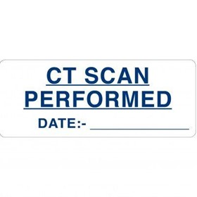 X-Ray - Large Descriptive Labels CT Scan Performed