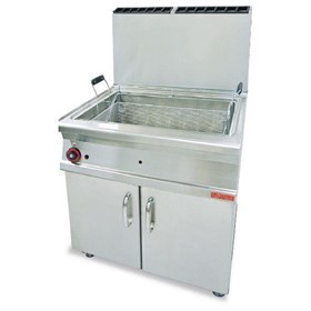 45L Large Pan Gas Pastry Fryer On Cabinet | F45-78G