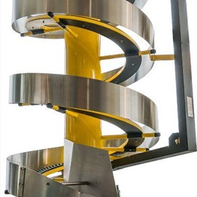 vertical conveyor, spiral conveyor, conveyor system, elevation