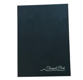 Menu Cover | Handmade A4 Black Faux Leather Cover