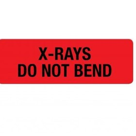 X-Ray - Large Descriptive Labels X-rays Do not Bend