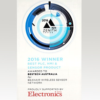"Bestech Australia wins Best Product for ""PLC, HMI & Sensor Product"""