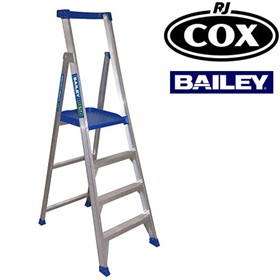 150kg Aluminium Platform Stepladder Height Access Work Platform