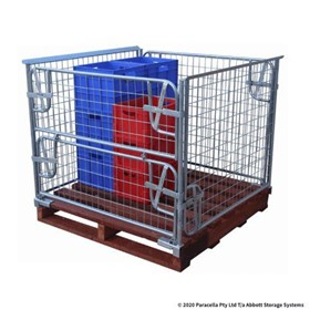 Pallet Cage | 900H Clamp On with Hardwood Pallet