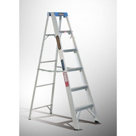 Aluminium Single Sided Step Ladder 120 kg 8ft 2.4m