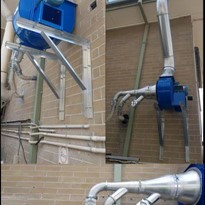 Ezi-Duct Fume Extraction System allows for greater control in lab.