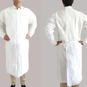 White Disposable Impervious Isolation Cover Gown, ASTM Level 2