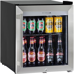 Tropical Rated Mini Glass Door Triple Glazed Bar Fridge |HUS-SC50-SS