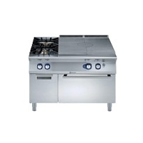Gas Solid Top on Gas Oven with 2 Burners on Cupboard - 900XP