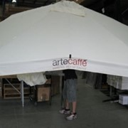 Commercial Aluminium Umbrellas- CAF8-3x3v, 3m Square Valanced Edge