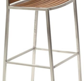 Bar Stool with Back Rest - Carlie