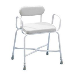 Bariatric Shower Stool, with Arms & Padded Back Homecraft Sherwood