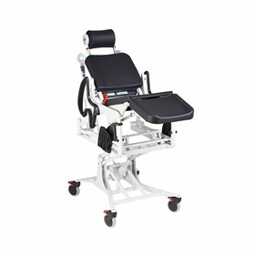 Electric Tilt & Lift Power Commode Shower Chair | Rebotec