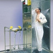 Store-Safe Multi-Spray Safety Shower Dual Platform with Eye Wash