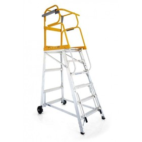 Mobile Platform Ladder 150kg 3.735m | Tracker