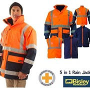 Bisley 5 in 1 Hi Vis Rain Jacket